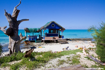 Beach bar on Cat Island Bahama