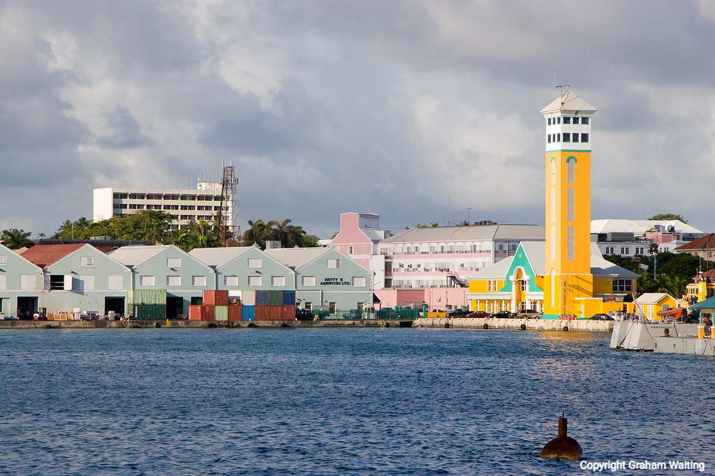Near the cruise line terminal in Nassau, Bahama