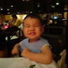m's first fine dining experience. it's blurry, because this picture was taken by caleb :)