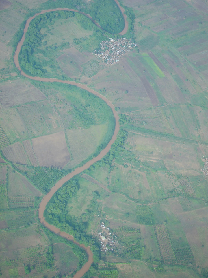 Shabelle River and settlements