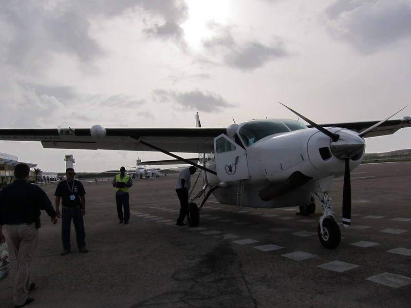 Taking off from Mogadishu