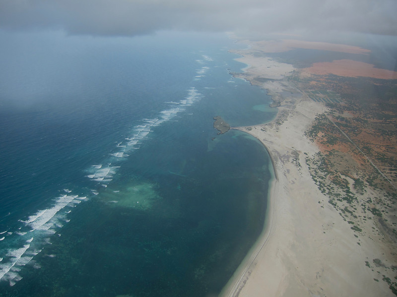 Coast line just south of Mogadishu