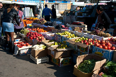 """The open air market is the center of town. This is the """"action"""" in Baikonur!"""