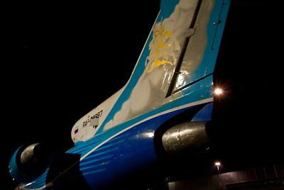 Tail of YAK 42 charter flight