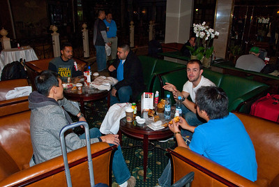Group gathers at 4 am for charter from Moscow to Baikonur