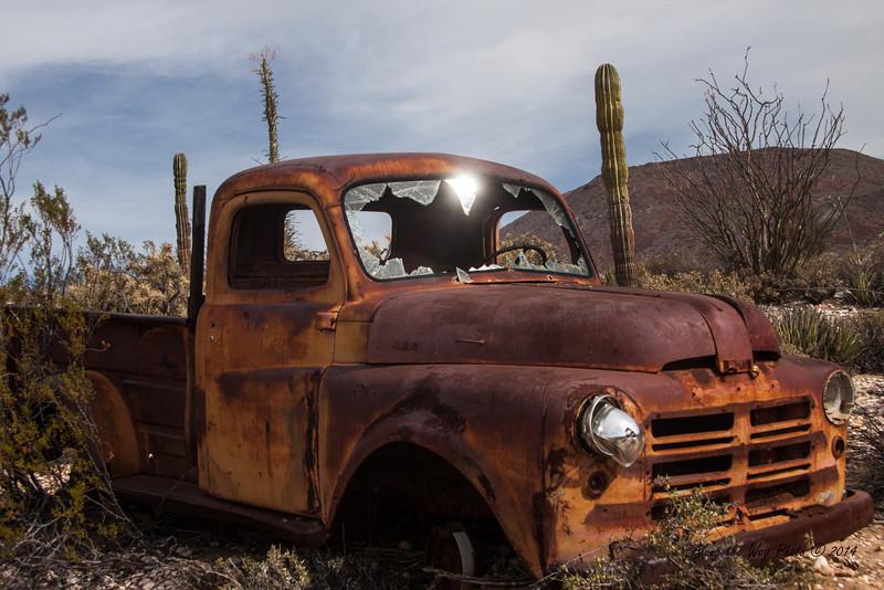 Catavina 4346<br /> Old pick up in a junk yard in Catavina in the Central Desert in Baja Peninsula.