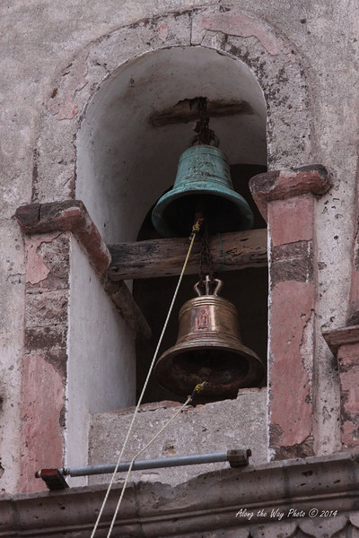 San Ignacio 5484<br /> <br /> Bell tower with two bells that are rung for services every Sunday at San Ignacio Mission in San Ignacio, Baja California.