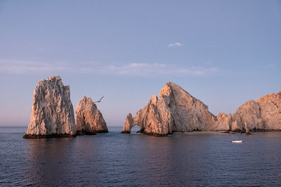 The rocks at Cabo san Lucas, the southern end of the Baja.