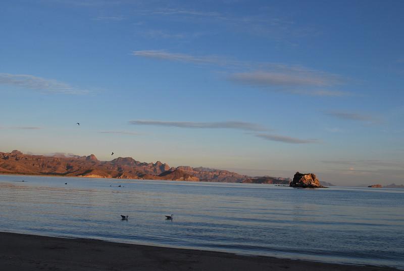 Playa Aguja early in the morning - looking towards Loreto