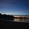 Playa Aguja after sunset - the stars are already out
