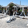 house decorated with whale bones