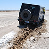 a few inches off the compacted track on the salt flats can get you in serious trouble