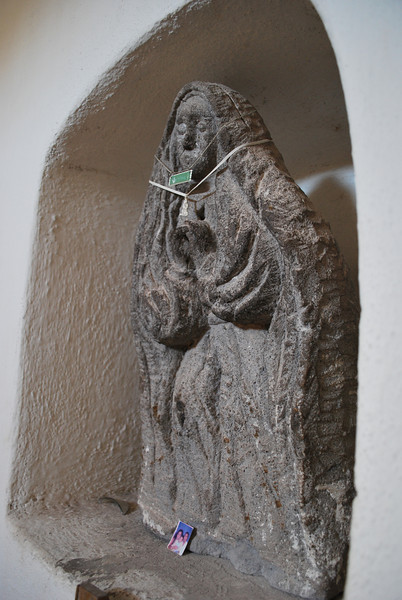 statue (Guadalupe? - Maria?) at mission St. Luis Gonzaga