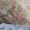 stunning display of prehistoric art - the humans depicted are 10ft tall