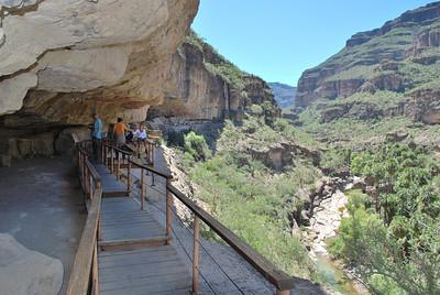 cave painting gallery in Cañon San Pablo (Cueva Pintatda)