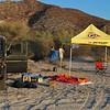 camp at Playa Alegria (Ensenada San Basilio)