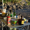 recipe for dinner in paradise: good friends, pasta of your choice, Pacifico, 2 Buck Chuck, Don Julio.