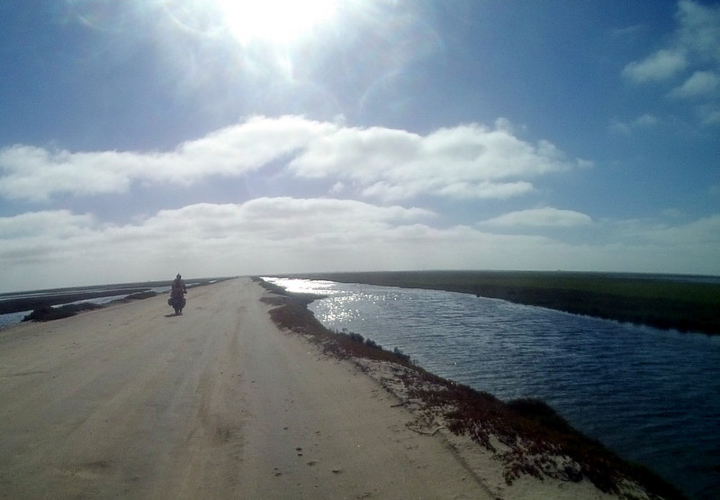 Day 5<br /> The road to the old dock near Guerro Negro.
