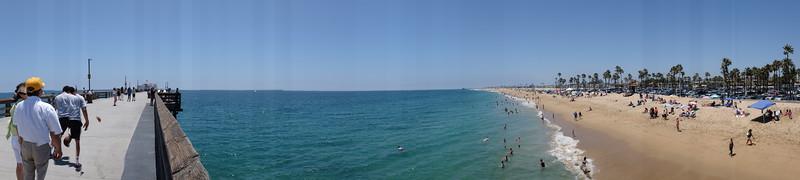 Balboa Pier to Beach Panorama