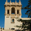 Ornate tower at the House of Hospitality in Balboa Park, San Diego, California.