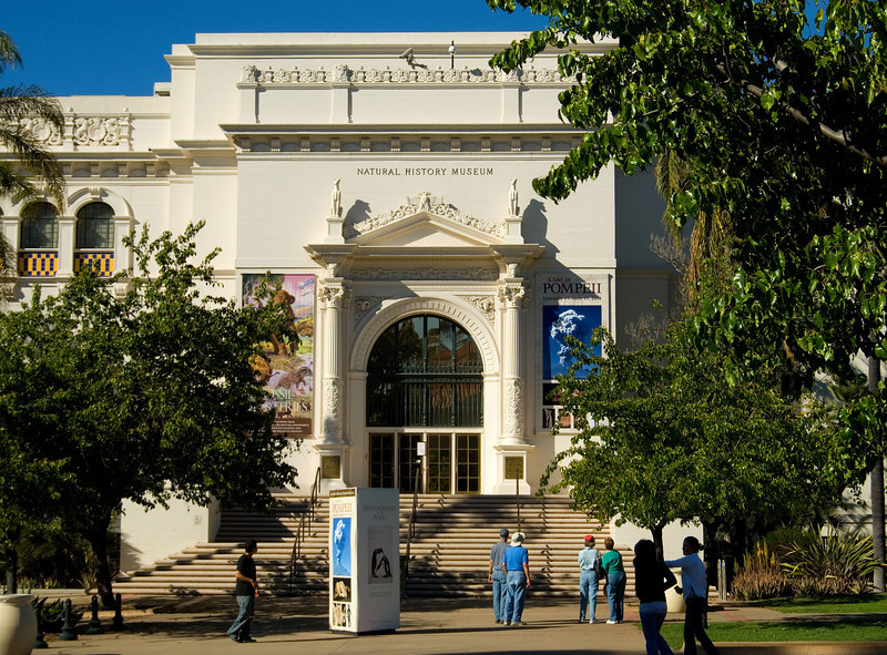 Entrance to the San Diego Natural History Museum, in Balboa Park.