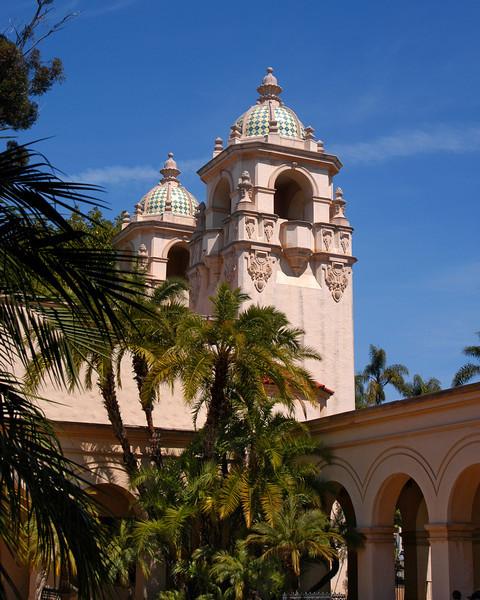 Towers at the Casa Del Prado in Balboa Park, San Diego, California.