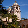 Towers at the Casa Del Prado in Balboa Park, San Diego, California.