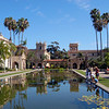 The lily pond at Balboa Park draws many admirerers.