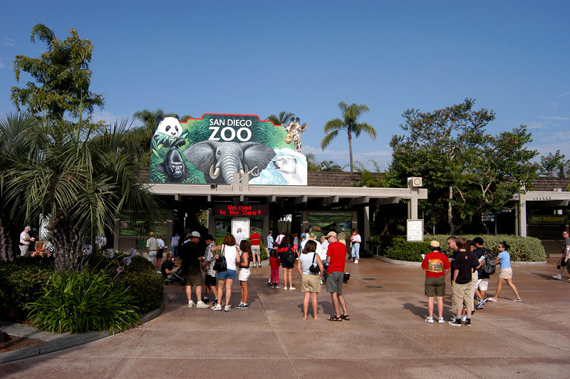 Entrance to the world famous San Diego Zoo.