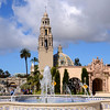 The Plaza de Panama fountain and California tower in Balboa Park, San Diego, California.