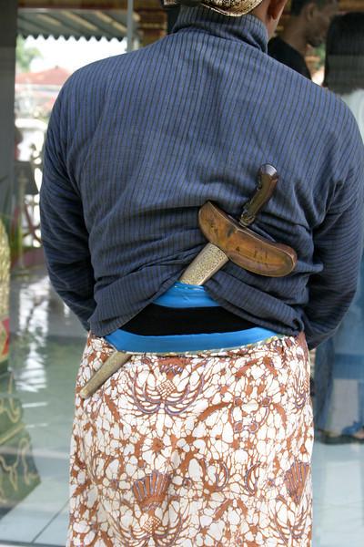 An armed palace guard.