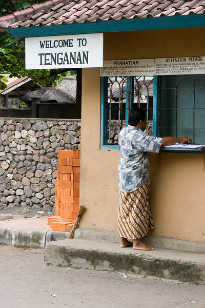 Entrance to a village, proceeds to help support the inhabitants