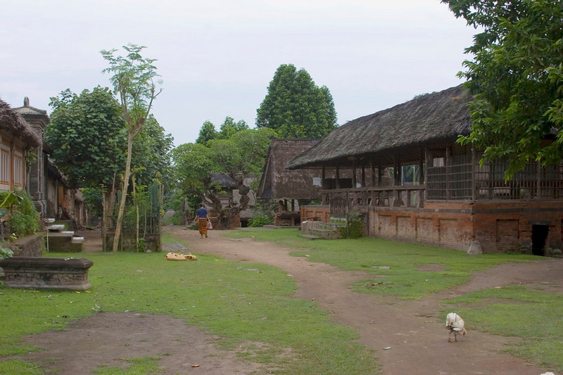 A fairly typical rural village In Southeastern Bali