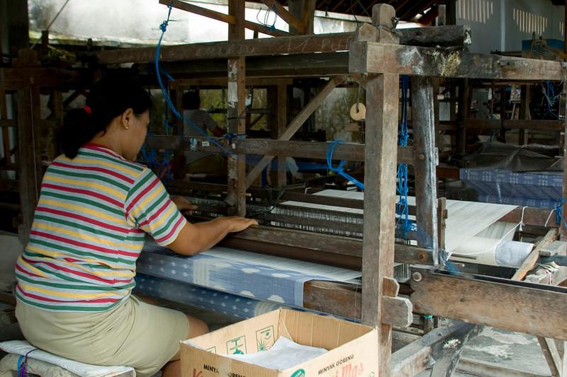 Weaving cotton