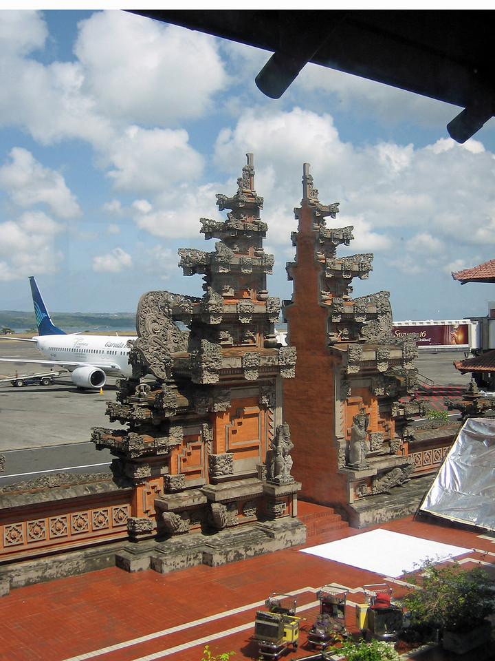 Bali Denpasar International Airport.  What an fabulous entrance to the island!