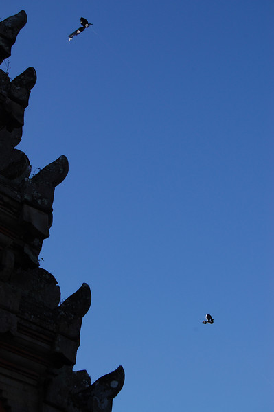 Bali children are constantly flying kites --- better than playing endless (and mindless) video games, eh?
