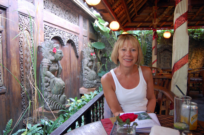 Time out for a G & T in the town of Ubud.