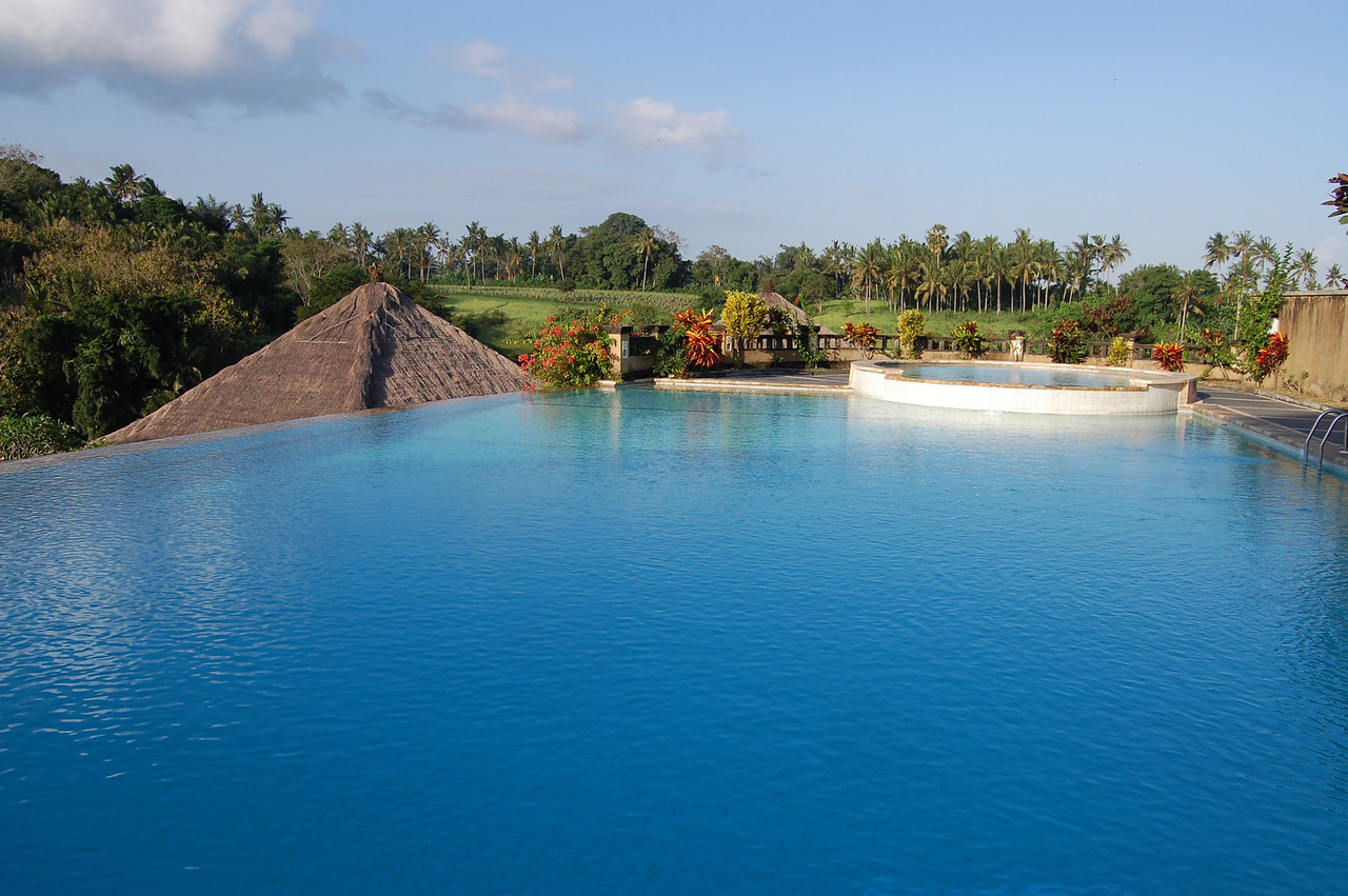 Bali Masari infinity pool -- we spent many hours contemplating life from here.