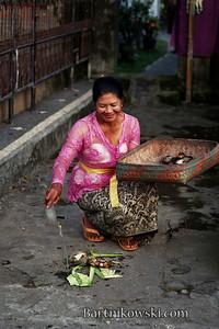 Morning of Kunigan in Ubud, Bali