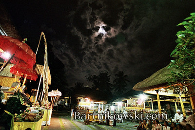 Full Moon at Kunigan Festival in Ubud Bali
