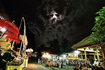 Full Moon at Kunigan Festival in Ubud Bali