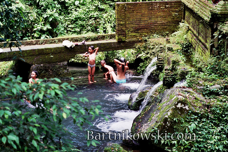 Balinese Bathing at Water Temple