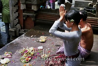Sacred Ceremony in Bali at Tirtaganga
