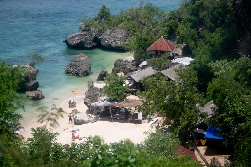 Secluded beaches around Ulu Watu.