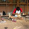 local wood carver, Bali