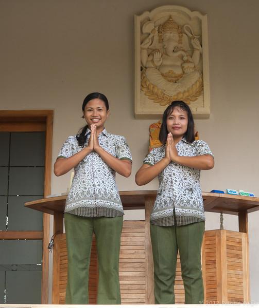 at the spa in Candidasa, Bali