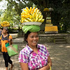 Local ladies selling bananas at the Pura Tirta Empul spring temple.
