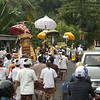 a spiritual temple procession on our way to Candidasa