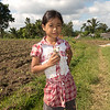 I gave 'Spot' to this little girl on our rice field walk in Lombok, Indonesia