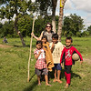 village children posing for a picture with Jacky on Lombok, Indonisia